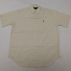 Ralph Lauren M White Cream Button Down Shirt Blair